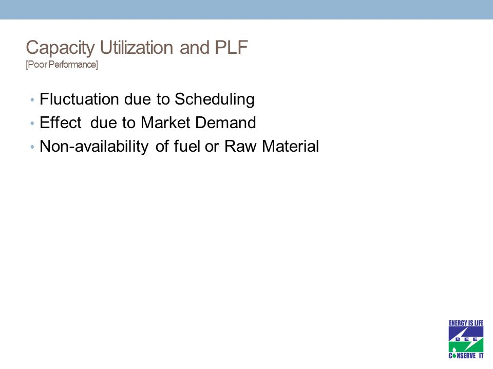 Capacity Utilization and PLF [Poor Performance]